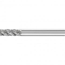 Fraises limes carbure hautes performances Denture STEEL pour l'acier et l'acier moulé Forme cylindrique ZYA sans denture en bout