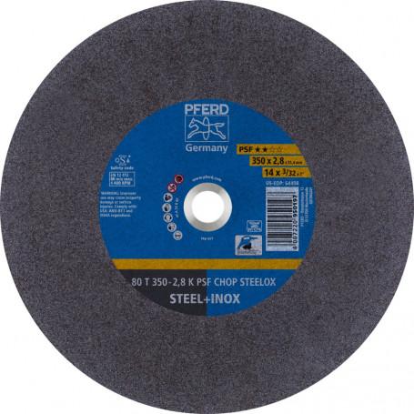 Disques à tronçonner CHOPSAW 80 T 350-2,8 K PSF CHOP STEELOX/25,4