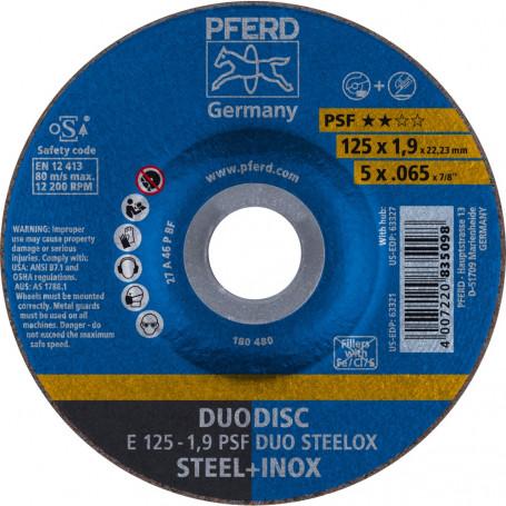 Disques à ébarber E 125-1,9 PSF DUO STEELOX