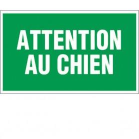 """Panneau information """"Attention au chien"""""""