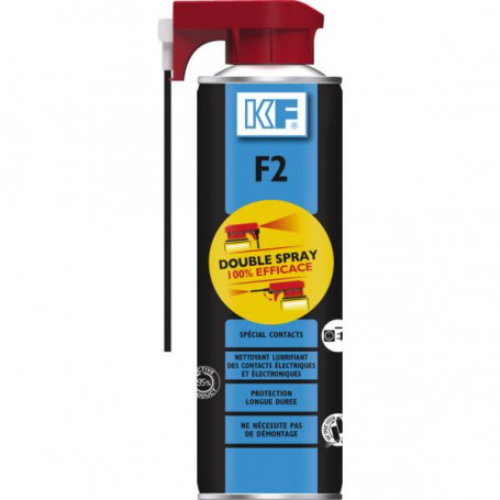 Nettoyant F2 spécial contact double spray