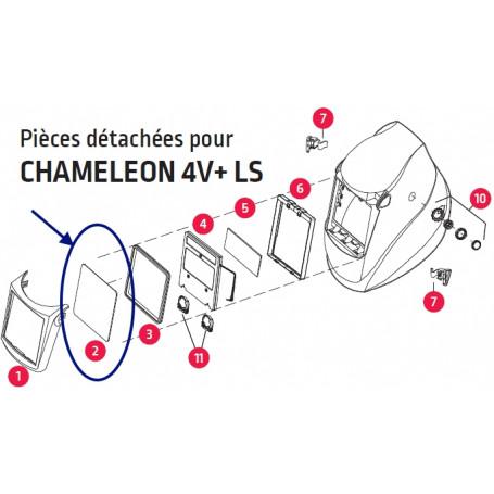 ECRAN PROTECTION EXTERIEUR MASQUE CHAMELEON + LS ET EUROSPEED LS  (BLISTER DE 10)