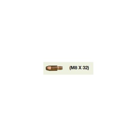 TUBE CONTACT  M8X32 1,2 AL CU (Sachet de 10u)