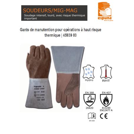 GANT SOUDEUR MAG/CUT FL/CR HT