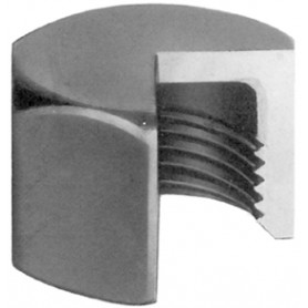 300 - Bouchon femelle hexagonal (filetage BSP) Finition noire