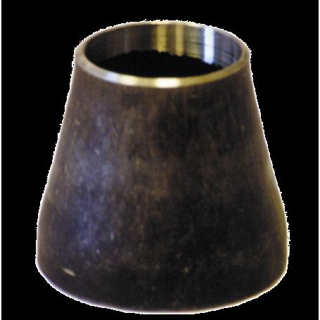 RED - Réduction concentrique à souder forme 1 ou 2 en acier S235 Finition noire