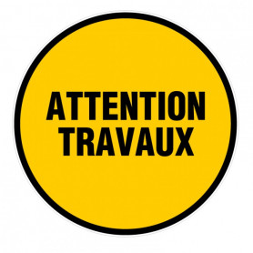 """Disque de chantier """"ATTENTION TRAVAUX"""" 300mm"""